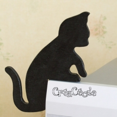 Chat noir d'angle (gauche)