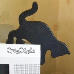 Chat noir d'angle (droit)