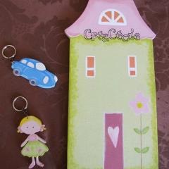 Porte-clés et maison Tilda