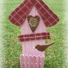 Jardinière nichoirs à oiseaux