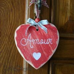 """Coeur en bois """"Amour"""""""