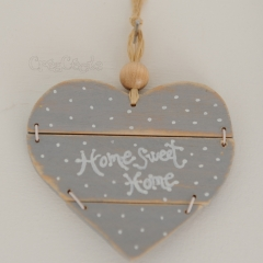 """Petit coeur en bois """"Home Sweet Home"""""""