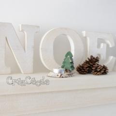 Grosses lettres en bois massif NOEL