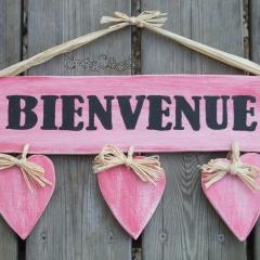 "Pancarte coeurs ""Bienvenue"""