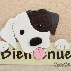 """Pancarte chien """"Bienvenue"""""""