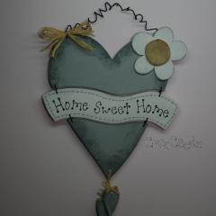 """Pancarte Coeur """"Home Sweet Home"""""""