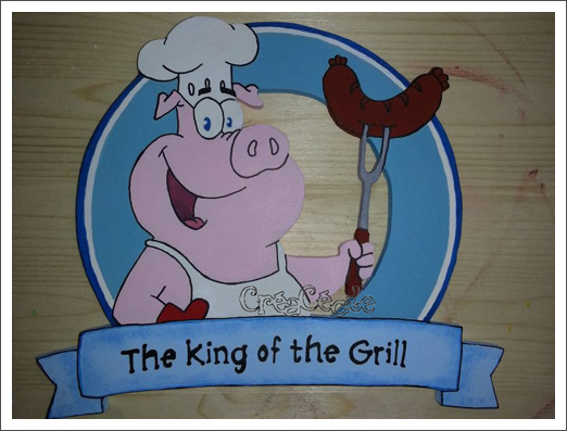 Pancarte_Barbecue_King_Of_Grill_Cochon