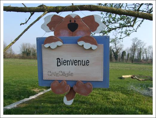 Pancarte_Bienvenue_chien_cadre_bleu