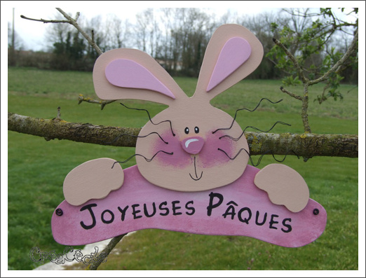 Pancarte_Paques_lapin_rose